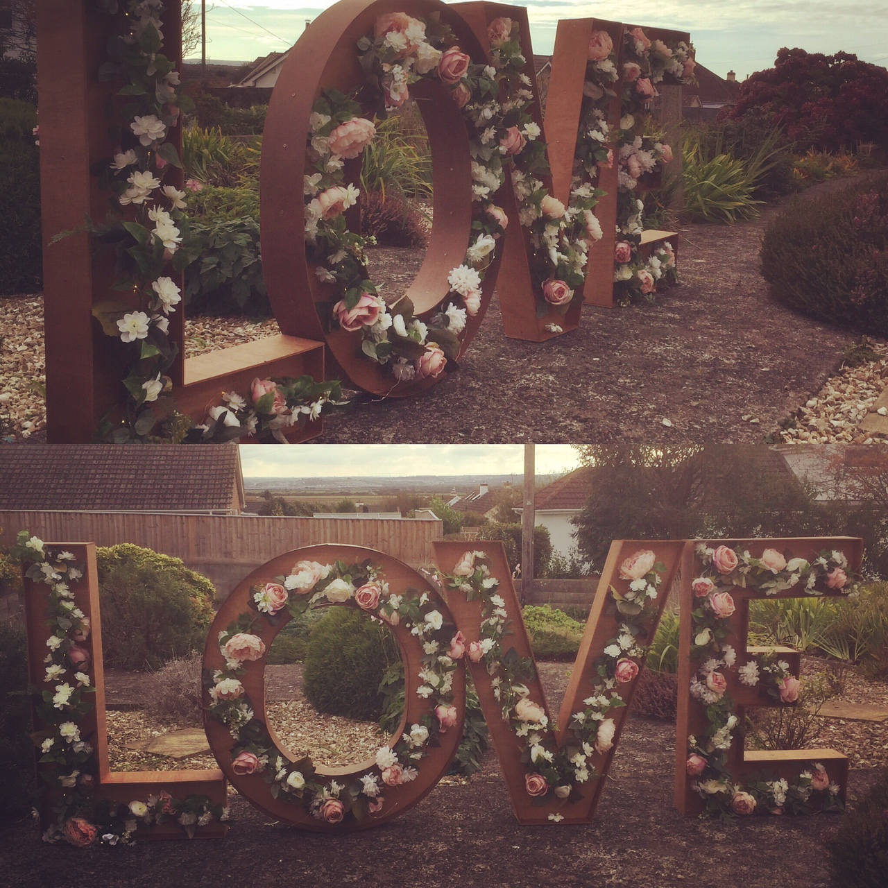 Giant Rustic LOVE Letters